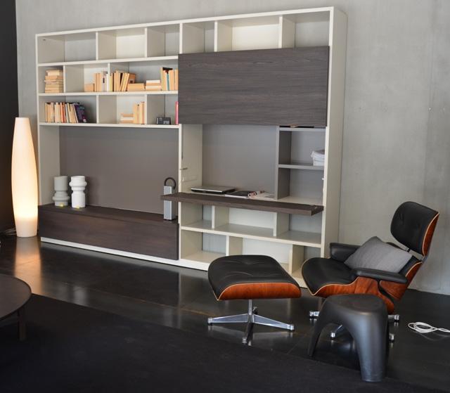 Molteni 505 parete soggiorno a spalla scontata del 41% - Soggiorni a prezzi s...