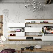 Soggiorno Napol Contenitore per soggiorno Laccato Opaco Porta Tv Design