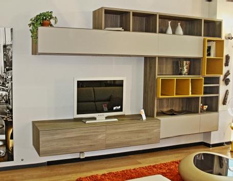 Soggiorno novamobili olmo ossido pareti attrezzate - Novamobili soggiorno ...