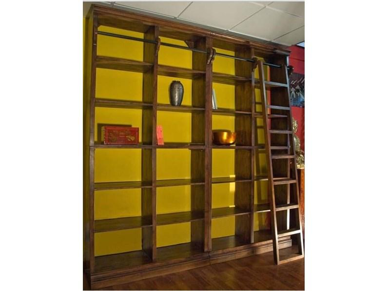 Soggiorno Nuovi Mondi Cucine Libreria noce c/scala