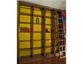 Librerie Con Scala Scorrevole In Legno.Outlet Soggiorni Librerie Sconti Fino Al 70