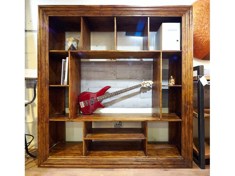 Soggiorno Nuovi Mondi Cucine Mobile parete soggiorno frame in legno  massello ultimo pezzo in offerta
