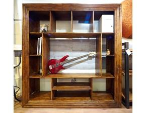 mobile parete soggiorno frame in legno massello ultimo pezzo in offerta  con   vano portatv interno