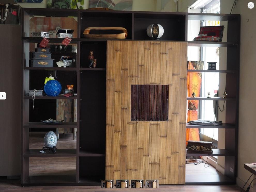Soggiorno nuovi mondi cucine parete libreria in essenza - Cucine moderne a parete ...