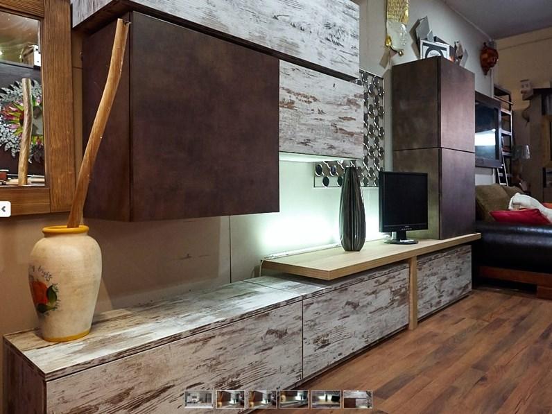 Soggiorno Nuovi Mondi Cucine Parete soggiorno moderno lineare ...