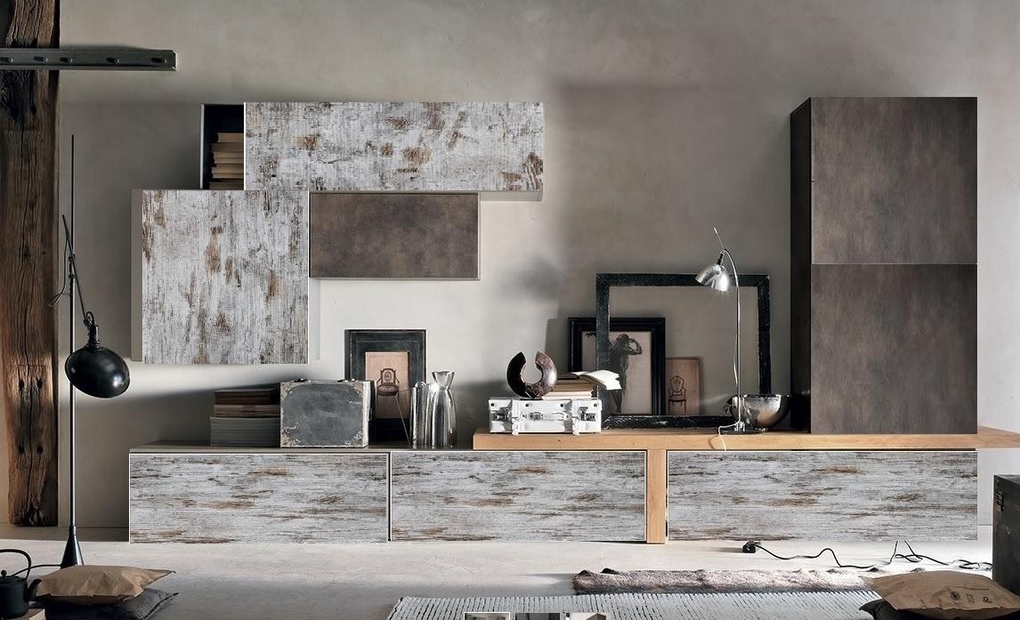 Soggiorno nuovi mondi cucine parete soggiorno moderno for Pareti moderni