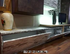 soggiorno parete vintage ultimo pezzo composizione in offerta nuovimondi 6 elementi con top offerta nuovimondi