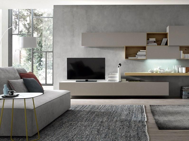 Soggiorno orme soggiorno living per tv laccato opaco porta for Soggiorno living