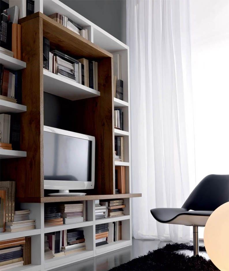 Soggiorno Pacema Soggiorno di legno Legno Librerie Moderno - Soggiorni a prezzi scontati