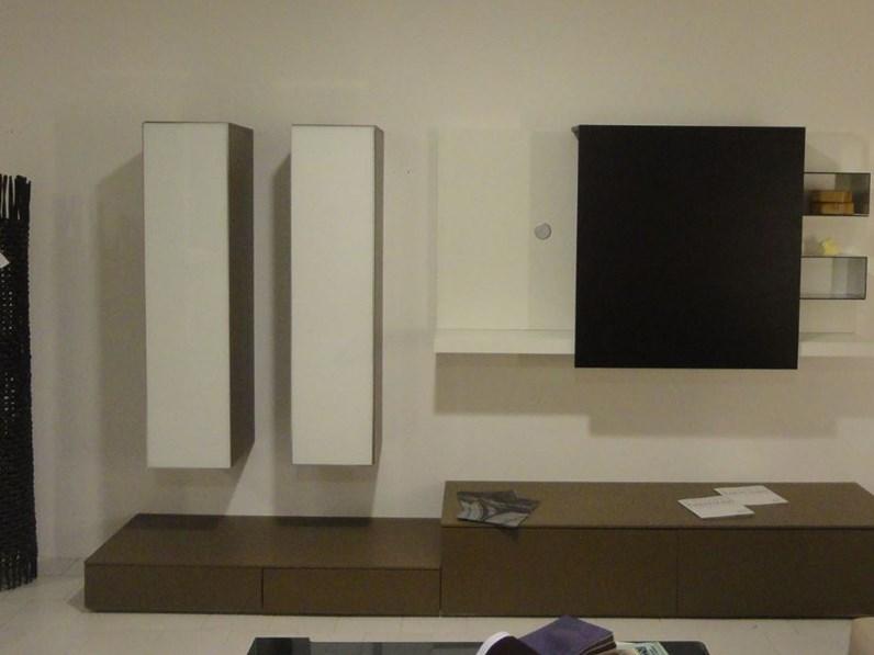 Soggiorno Pianca Spazio box Laccato Opaco Porta Tv Moderno