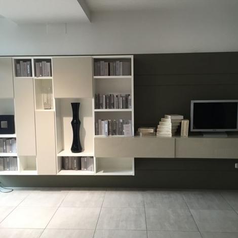 Soggiorno pianca spazioteca librerie soggiorni a prezzi for Librerie design outlet
