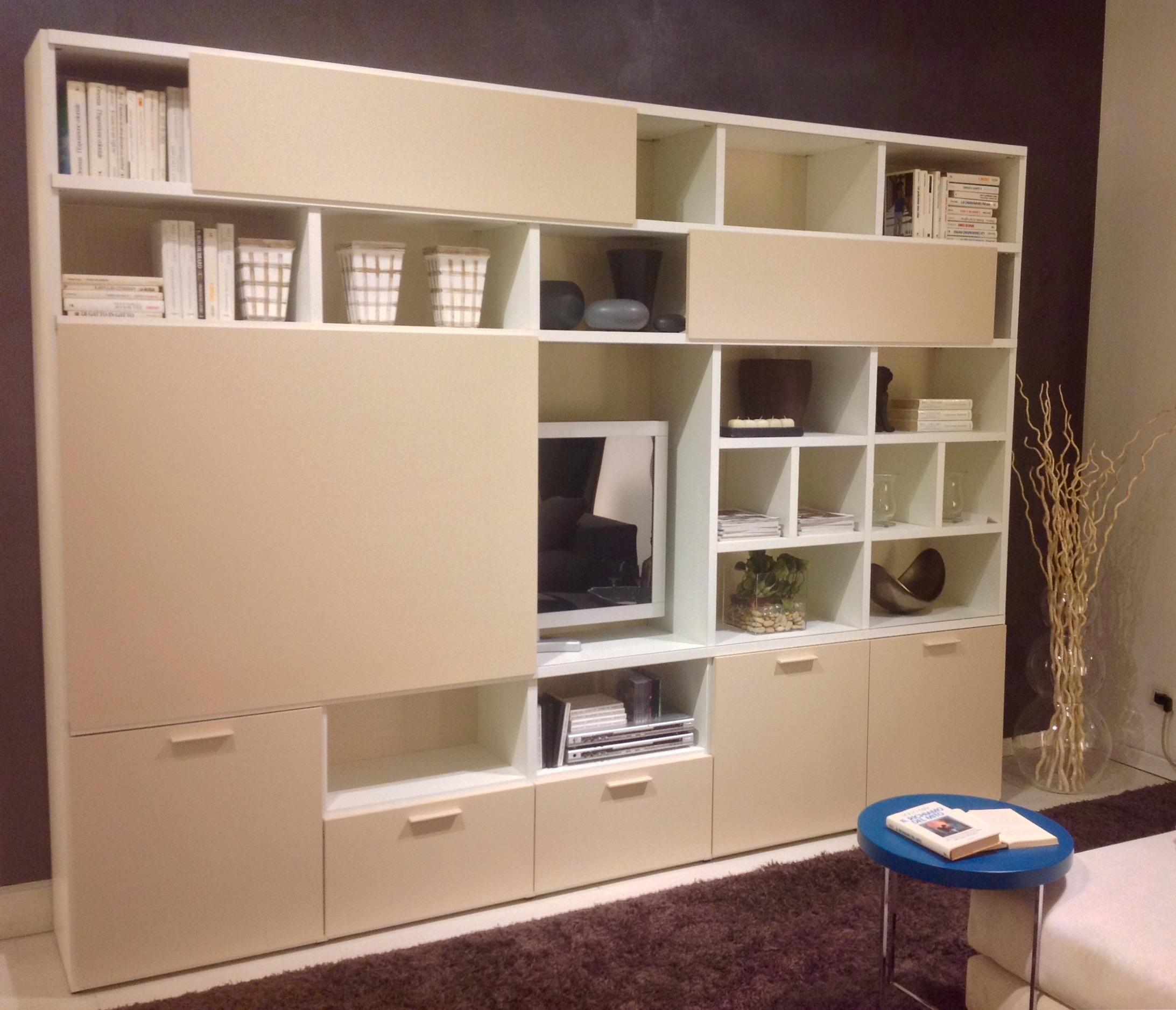 Romagnol mobili soggiorno personal laccato opaco pareti for Mobile da soggiorno moderno