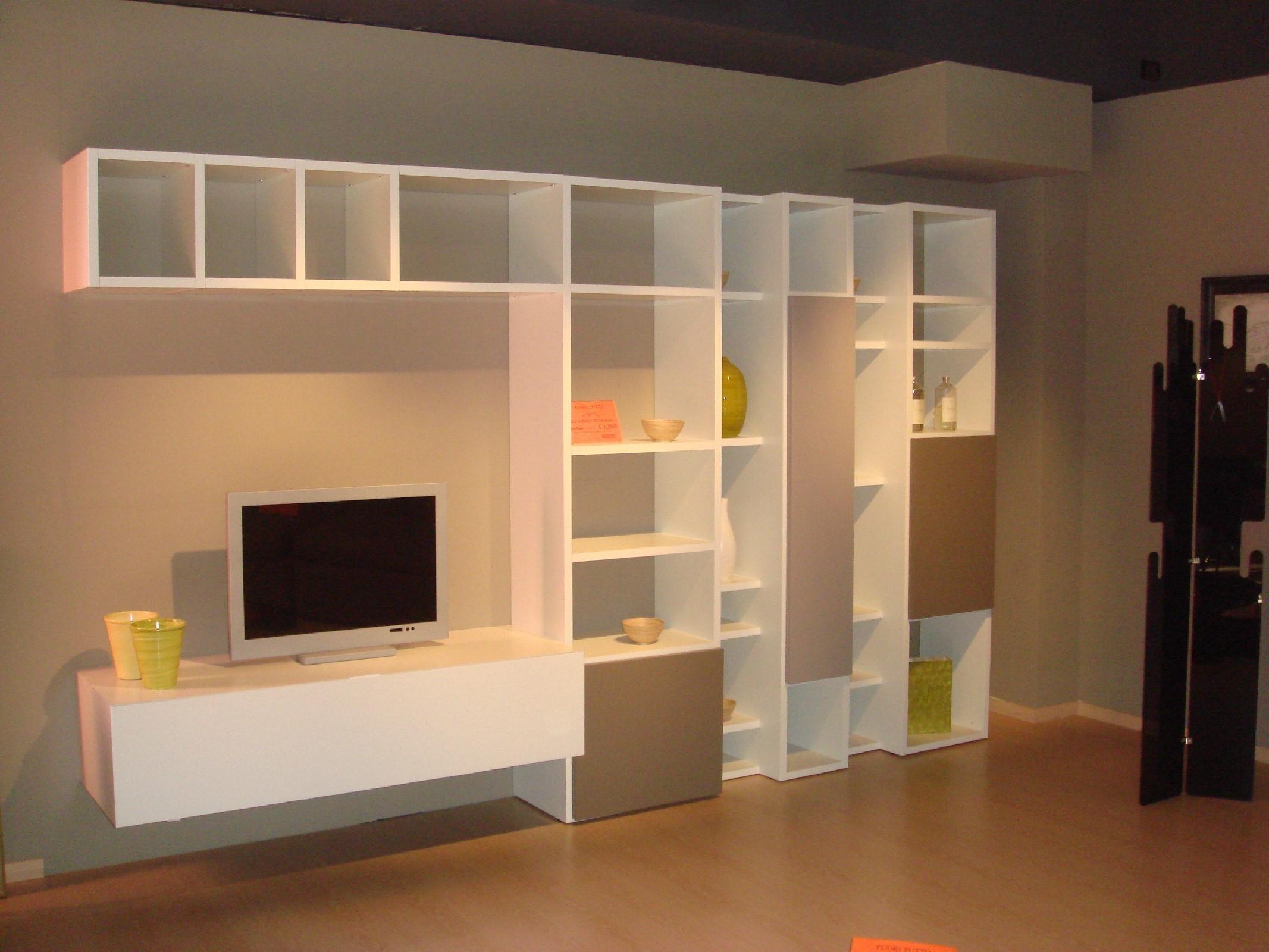 Soggiorno armobil lounge laccato opaco pareti attrezzate moderno ...