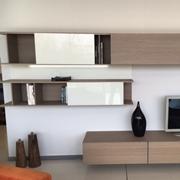 soggiorno moderno in legno di rovere