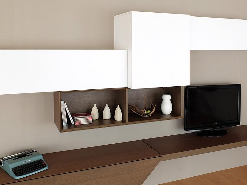 Soggiorno bianco e legno - Santarossa mobili prezzi ...