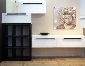 soggiorno moderno shabby chic vintage white in legno composta nell' offerta da 3 moduli white shabby chic