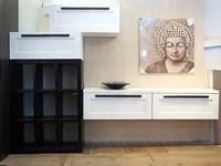 soggiorno shabby chic white e sabbia in offerta outlet convenienza