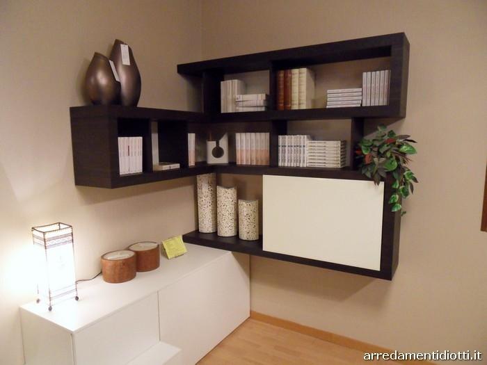 Soggiorno side system con porta tv scontato soggiorni a for Mobili soggiorno angolari moderni
