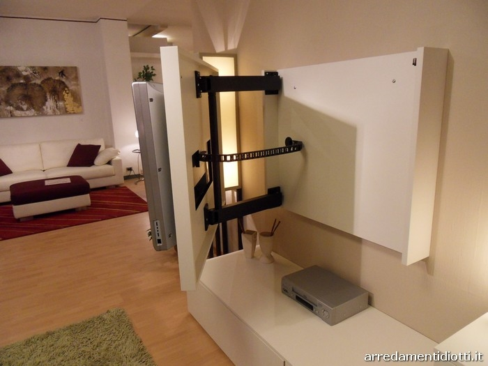 Soggiorno side system con porta tv scontato soggiorni a for Piccoli mobili per soggiorno