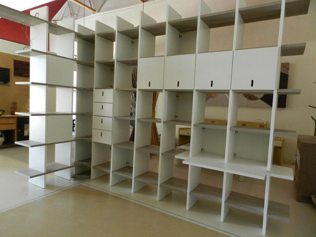 Soggiorno sistemacamelot libreria modulare laminato opaco for Libreria modulare