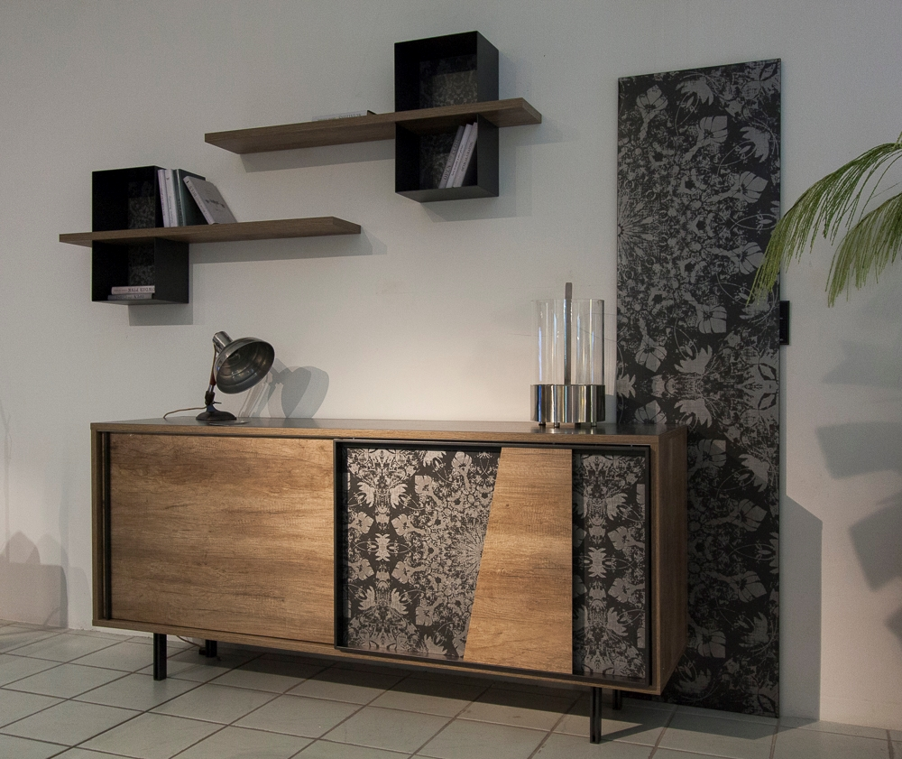 Soggiorno target point madia mod vintage di target legno for Madia design