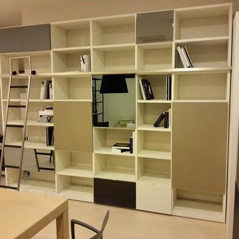 Soggiorno tisettanta soggiorno libreria laccato opaco librerie ...