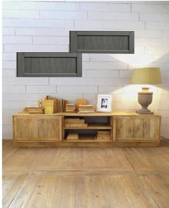 soggiorno vintage abete chiaroe grigio in offerta outlet - Soggiorni a ...