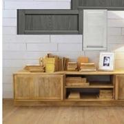 soggiorno in legno noce india chiaro e pensili white grey in offerta