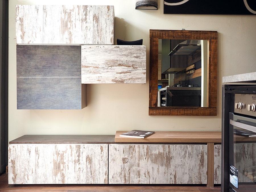 soggiorno etnico moderno legno vintage in offerta