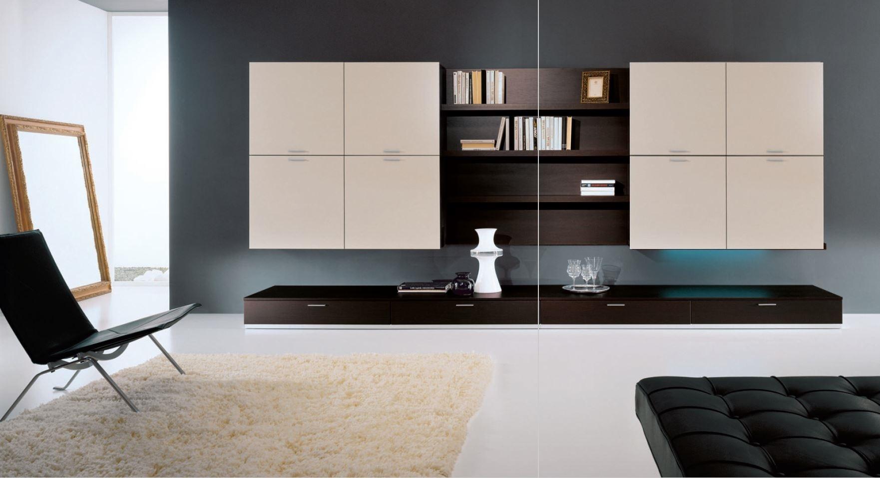 Spar parete attrezzata componibile in offerta - Soggiorni a prezzi ...