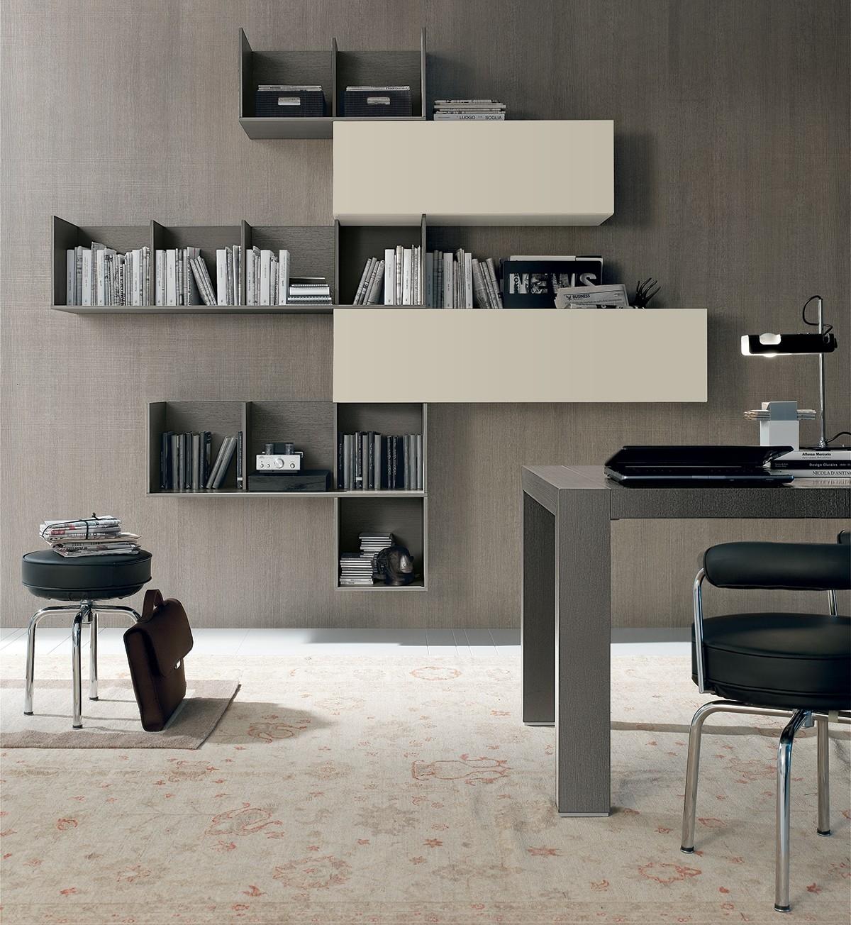 Tomasella libreria moderna componibile soggiorni a for Soggiorni pareti attrezzate