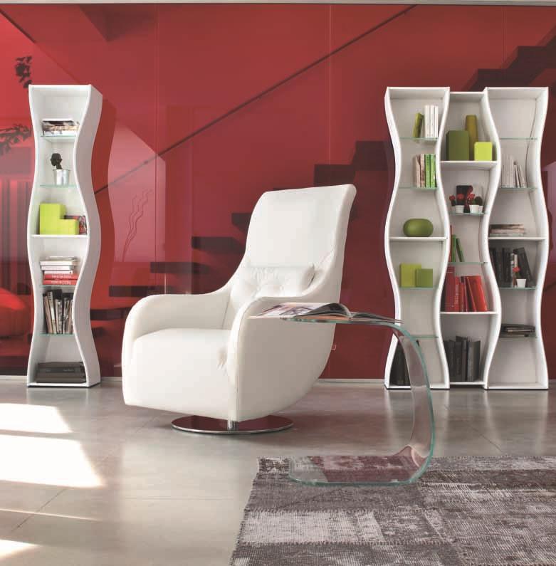 tonin casa soggiorno onda laccato opaco librerie design, Disegni interni