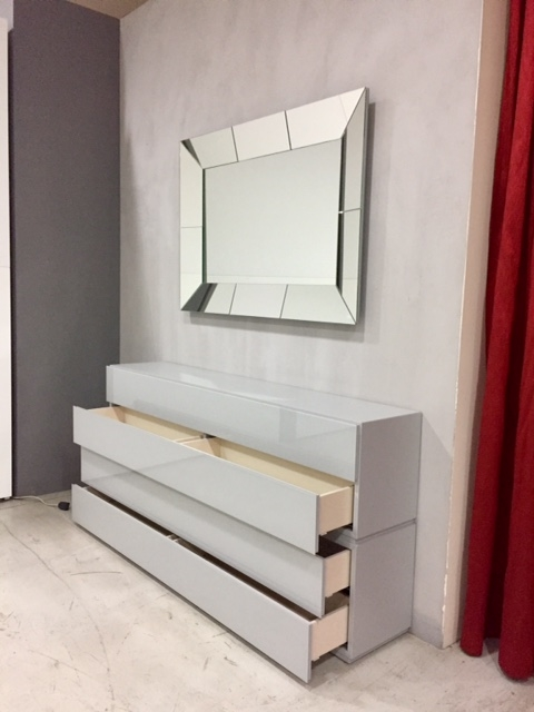 Soggiorno veneran modulo vetro mobili ingresso design - Arredamento ingresso soggiorno ...