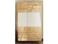 Credenza Moderna Legno Massello : Credenza vetrina ante in legno massello rovere e vetro scontato