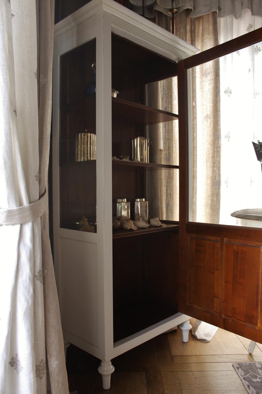 La griffe vetrina con laterali a vetro laccata bianco for Vetrina in vetro