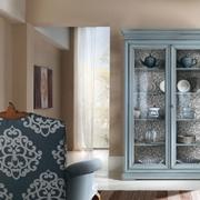 vetrinetta cristaliera in legno stile shabby chic