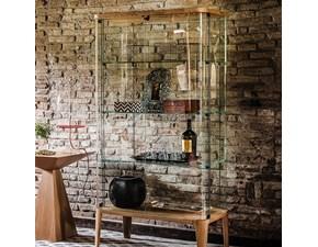 Vetrina in cristallo in stile design Cattelan Offerta Outlet