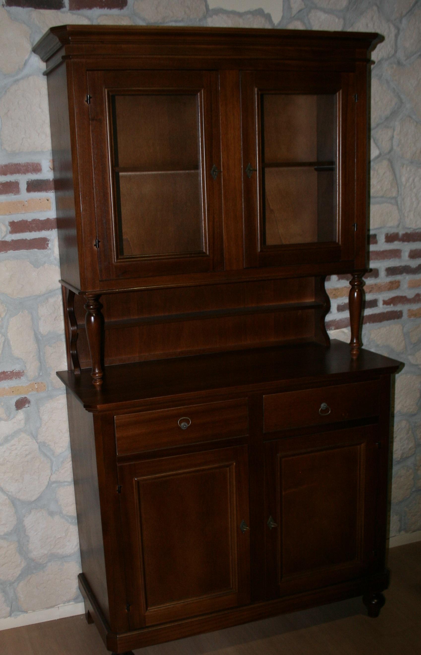 Vetrina napoletana 2 ante fatta in legno stile classico for Vetrina stile moderno