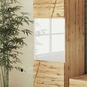 vetrinetta 1 anta legno rovere vetro bianco