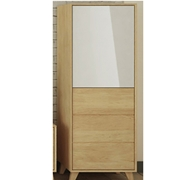 vetrinetta 2 ante legno massello vetro bianco