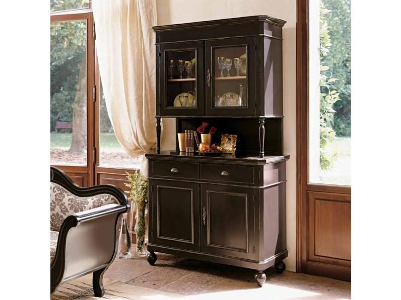 Vetrinetta artigianale credenza in legno mottes mobili for Outlet mobili