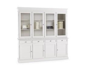 Vetrinetta Artigianale in legno Credenza vetrina bianca in legno mottes mobili in Offerta Outlet