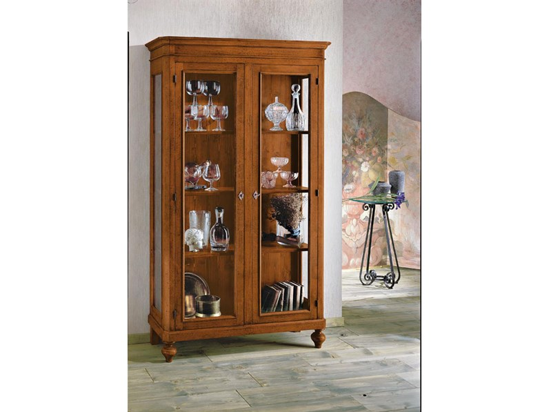 Vetrinetta Artigianale in legno Vetrina a 2 ante stile arte povera ...