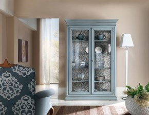 Vetrinetta Artigianale in legno Vetrina tutta in legno mottes mobili in Offerta Outlet