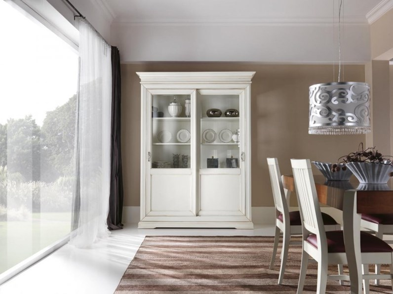 Vetrinetta artigianale vetrinetta in legno mottes mobili prezzi outlet - Mobili antichizzati bianchi ...