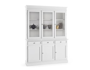 Vetrinetta Credenza con vetrinetta in legno mottes mobili Artigianale in stile classico a prezzo ribassato