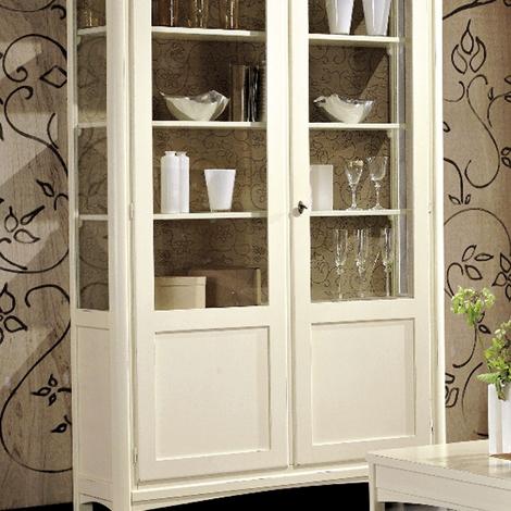 Vetrinetta dallo stile classico in legno color avorio - Porte color avorio ...