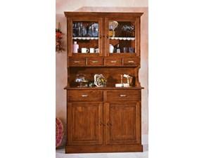 Vetrinetta in legno stile classico Credenza classica in legno massello mottes mobili Artigianale