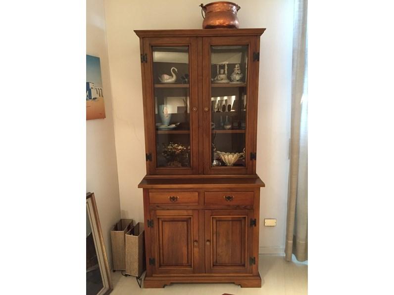 Vetrinetta in legno stile classico Credenza-vetrina bonanza Abbondi interni