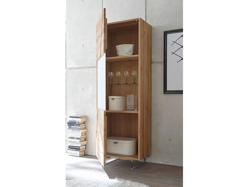 Madia moderna cucina soggiorno legno rovere scontata -46%